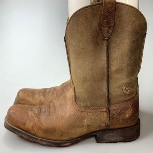 Ariat Square Toe Western Boots Youth Boys Cowboy